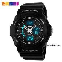 SKMEI Clock Men Digital Dual Display Sport Wristwatches 50M Waterproof LED Stop Watch Alarm Relogio Masculino Middle Size 1008