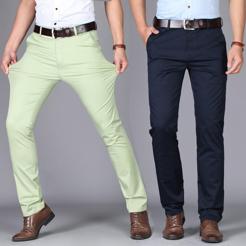 men suit pants casual office high quality cotton trousers business pants for men wedding party dress social trousers Men's pants