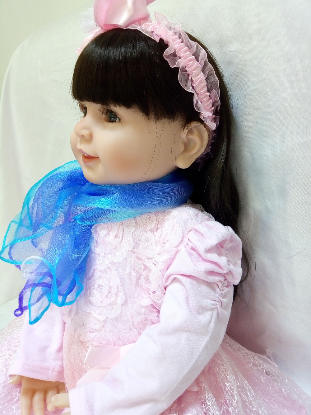 vinyl silicone doll soft baby reborn lifelike dolls 61CM kawaii Girls Playmates brinquedo birthday Childrens Day hot-sellingvinyl silicone doll soft baby reborn lifelike dolls 61CM kawaii Girls Playmates brinquedo birthday Childrens Day hot-selling