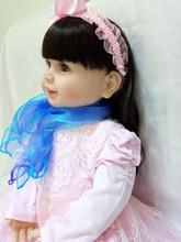 ויניל סיליקון בובה תינוק רך נולד מחדש בובות דמויי 61cm kawaii הנערה של playners brinquedo יום הולדת ילדים יום חם