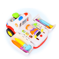 1:22 Ambulance Toy Car With Sound light Pretend Doctor with Patient Medical Kit Inside Toy Car with Lights Child education