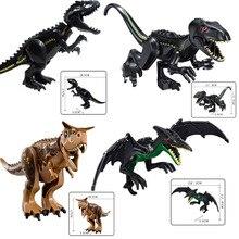 hot deal buy jurassic world 2 park pterosaur 4 kinds of dinosaur children's model building blocks toys compatible with brand toys