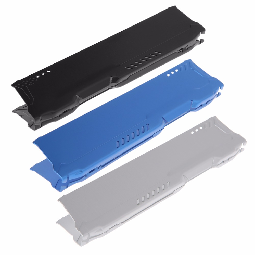 DDR1/2/3/4 RAM Memory Aluminum Cooling Spreader Computer Heatsink Vest Radiator Heat Sink Cooler Blue/Silver/Black C26 gtfs hot 2 x aluminum heatsink shim spreader for ddr ram memory