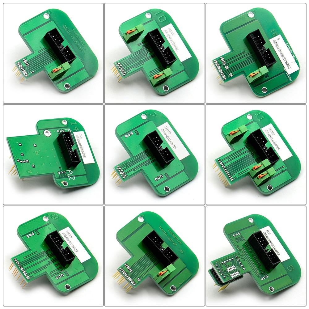 22pcs/set Bdm Adapters Bdm Frame Metal For Kess V2 V5.017 Ktag Ktm Dimsport Bdm Probe Adapters Full Set Led Ecu Ramp Adapters