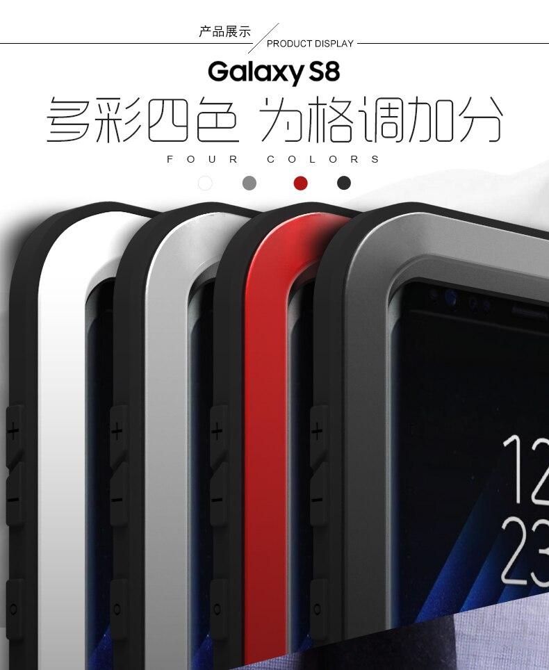 Métal étui pour Samsung Galaxy S8 Antichoc Couverture 360 corps entier armure protectrice Pour Cas Samsung S8