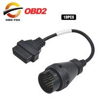 2020 10 unids/lote OBD2 para IVECO 38 PIN conector para IVECO 38Pin OBD II OBD2 de Cable de 16 pin conector envío gratuito