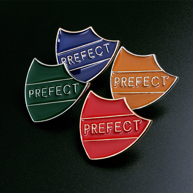 School Metal Pin Badges Shield Shape in House Colours FREE P/&P