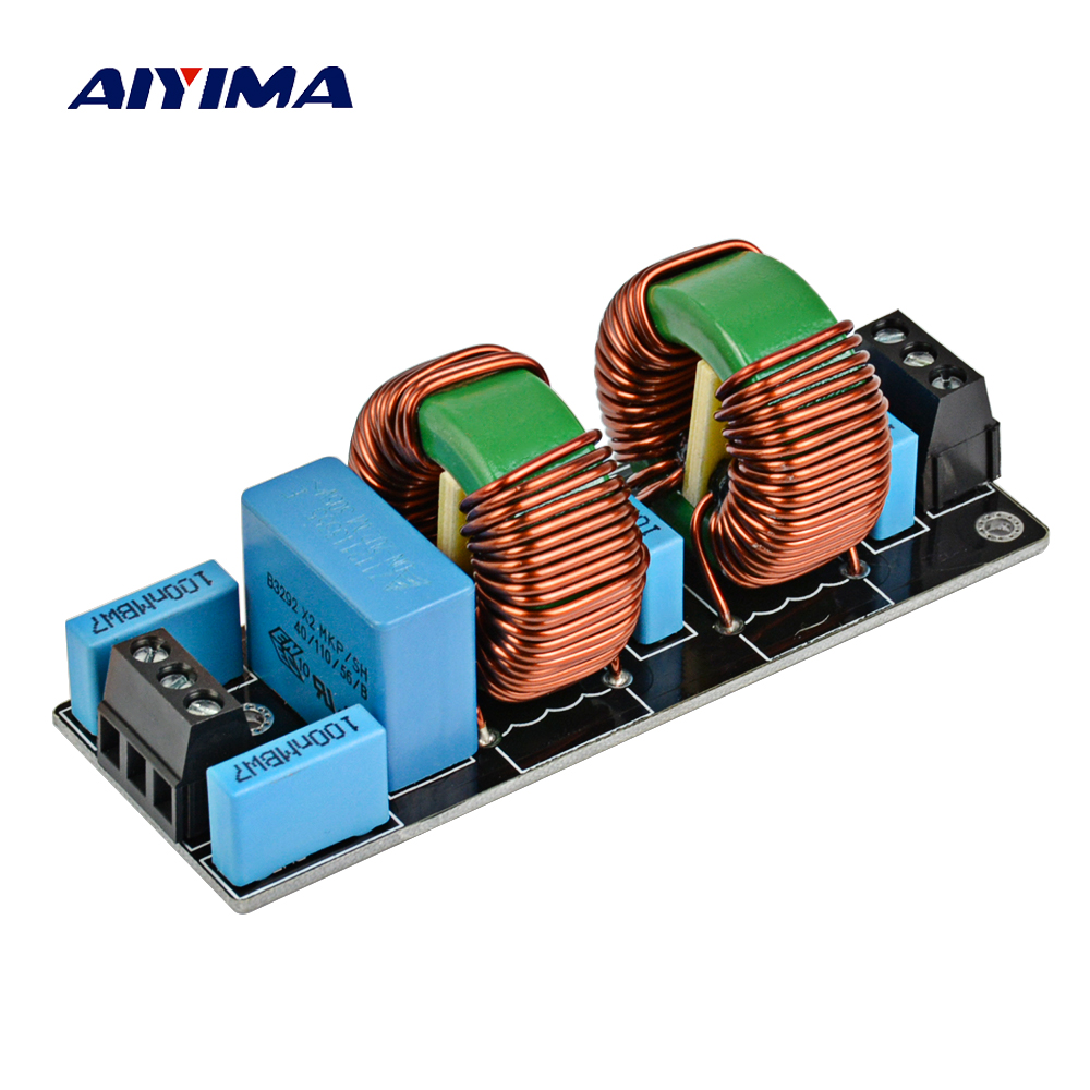 цена на Aiyima 3900W EMI 18A High Frequency Power Filter Power supply Assembled Board For Speaker Amplifier