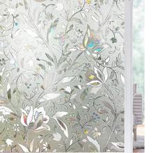 Funlife 90x200cm 3D Window Privacy Glass Film Static Decorative Vinyl Self-adhesive Heat Control Anti UV Sticker