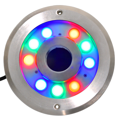 CE ROHS IP68 316 stainless steel 24V 27W RGB led underwater light for fountain pond light Color changing underwater led White image