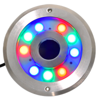 CE ROHS IP68 316 Stainless Steel 24V 27W Single Color Led Underwater Fountain Light White Warm