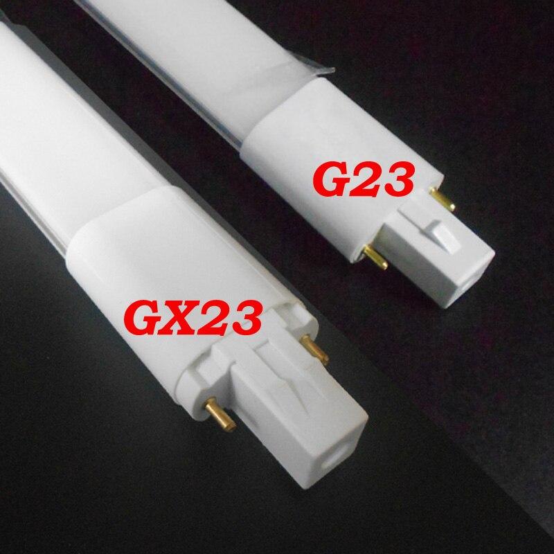 G23 lâmpada LED 6W 8W levou luzes do tubo SMD 2835 G23 AC85-265V Epistar chip levou PL CONDUZIU a lâmpada lâmpada 110V 220V 230V