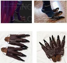 LOL Rakan i Xayah łapy spodnie rekwizyty do Cosplay Feather sztyfty przebranie na karnawał