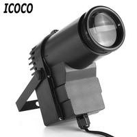 ICOCO Professional 30W RGBW LED Stage Light Spin Spot Beam Spotlight 6 Channel Atmosphere Light DJ