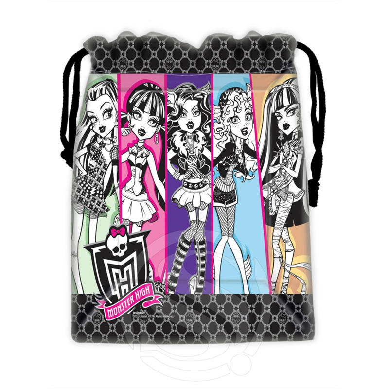 H-P771 Custom Monster High#15 Drawstring Bags For Mobile Phone Tablet PC Packaging Gift Bags18X22cm SQ00806#H0771