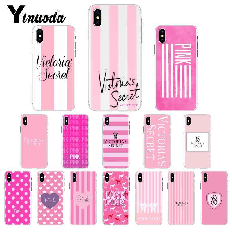 Yinuoda Victoria VS PINK LOVE PINK TPU Soft Phone Case Cover for iPhone 6S 6plus 7 7plus 8 8Plus X Xs MAX 5 5S XR 10