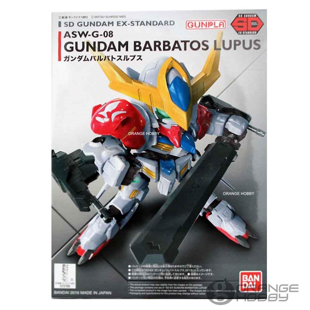 OHS Bandai SD EX-Standard 014 Q-Ver Barbatos Lupus ASW-G-08 Mobile Suit Assembly Gundam Model Kits oh bandai bandai gundam model sd q version bb 309 sangokuden wu yong bian xiahou yuan battle