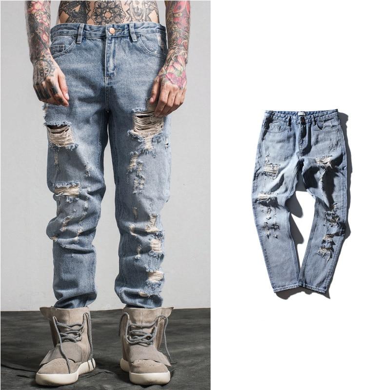 2017 New Arrival Fashion Hole font b Men b font font b Jeans b font Casual