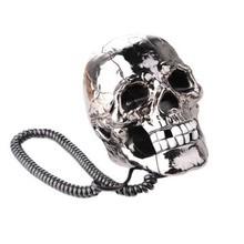 Unique Skull Head Skeleton Shaped Flashing Eyes Corded Land Line Home Office Desk Telephone Table Decoration fire extinguisher shaped land line telephone