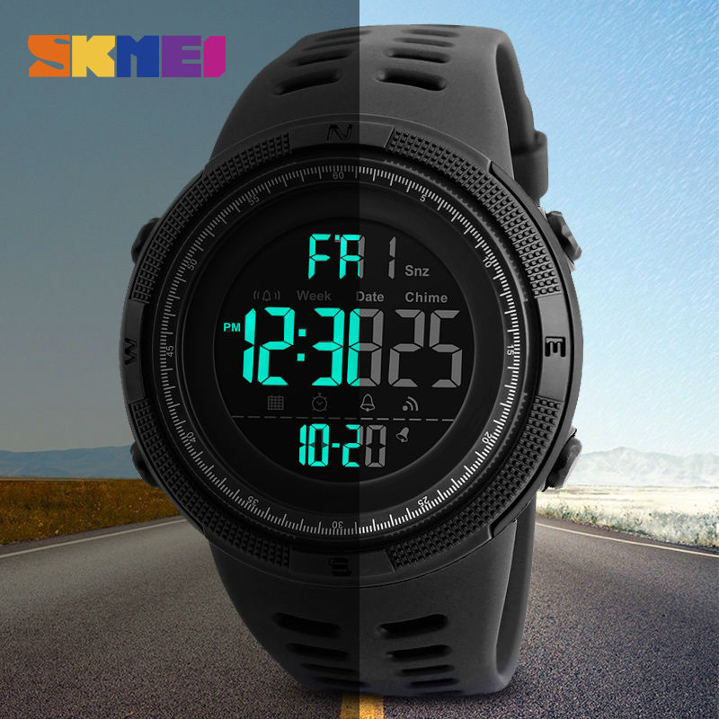 SKMEI Brand Men's Fashion Sports Watches Chrono Countdown Men Waterproof Digital Watch Man military Clock Relogio Masculino