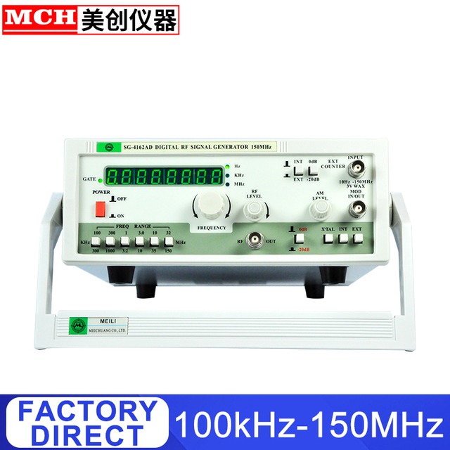 RF Signal Generator 100KHz-150MHz with Frequency Counter 150MHz Digital Signal Generator