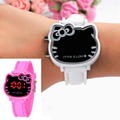 Baby Clock Pink Girl Watches Hello Kitty Cute Cartoon Kid Children Clock Quality Wrist Christmas Gifts relogio Holiday Hodinky