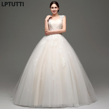 LPTUTTI Crystal Lace New Sexy Vintage Plus Size Princess Bridal Marriage Gown Boho Bride Simple Party Long Luxury Wedding Dress