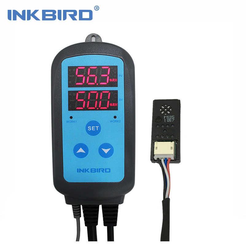 Inkbird コンボセットの事前有線デジタル硬膜ステージ湿度コントローラ IHC200 と加熱冷却温度コントローラ ITC-308