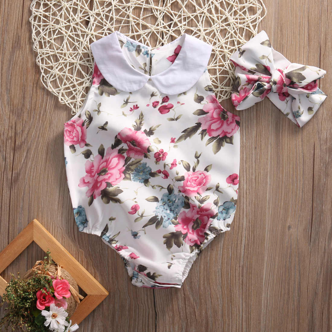 2d27229fe73c9 Detail Feedback Questions about 2PCS Set Newborn Floral Baby Girl ...