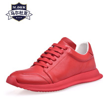 mens leisure shoes street youth trend thick-soled designer men cowhide breathable sneaker fashion boots casual