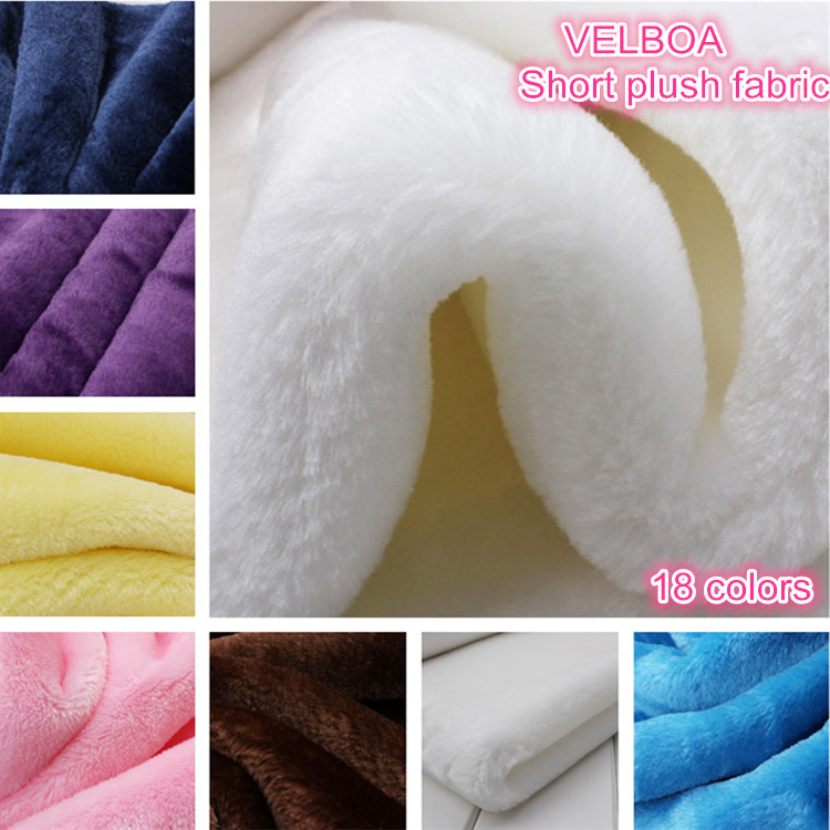 VELBOA short plush fabric 100% polyester over soft pile short floss fabric 170cm 350g for cloth toys art photography decorative