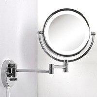 Зеркало переднее освещение Настенные светильники двухстороннее серебряное зеркало состав спальня ванная комната светодиодный настенные