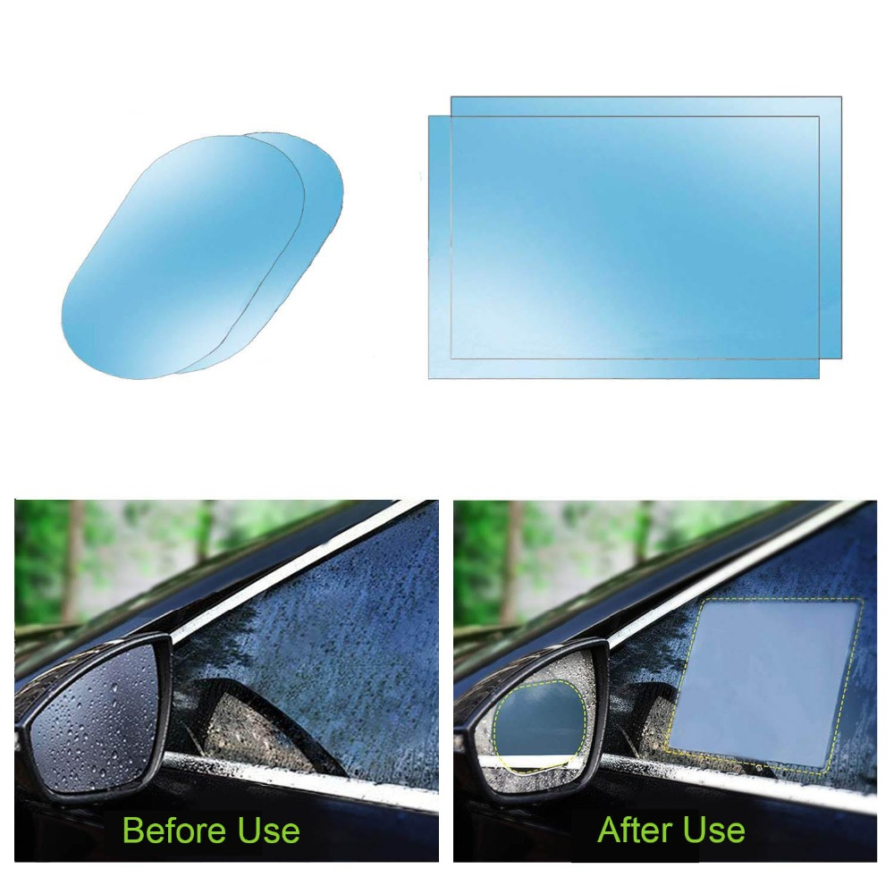 Car Mirror Side Window Clear Film Anti Fog Membrane Waterproof Rainproof Car Anti Water Sticker Car Accessories 2PCS/Set(China)