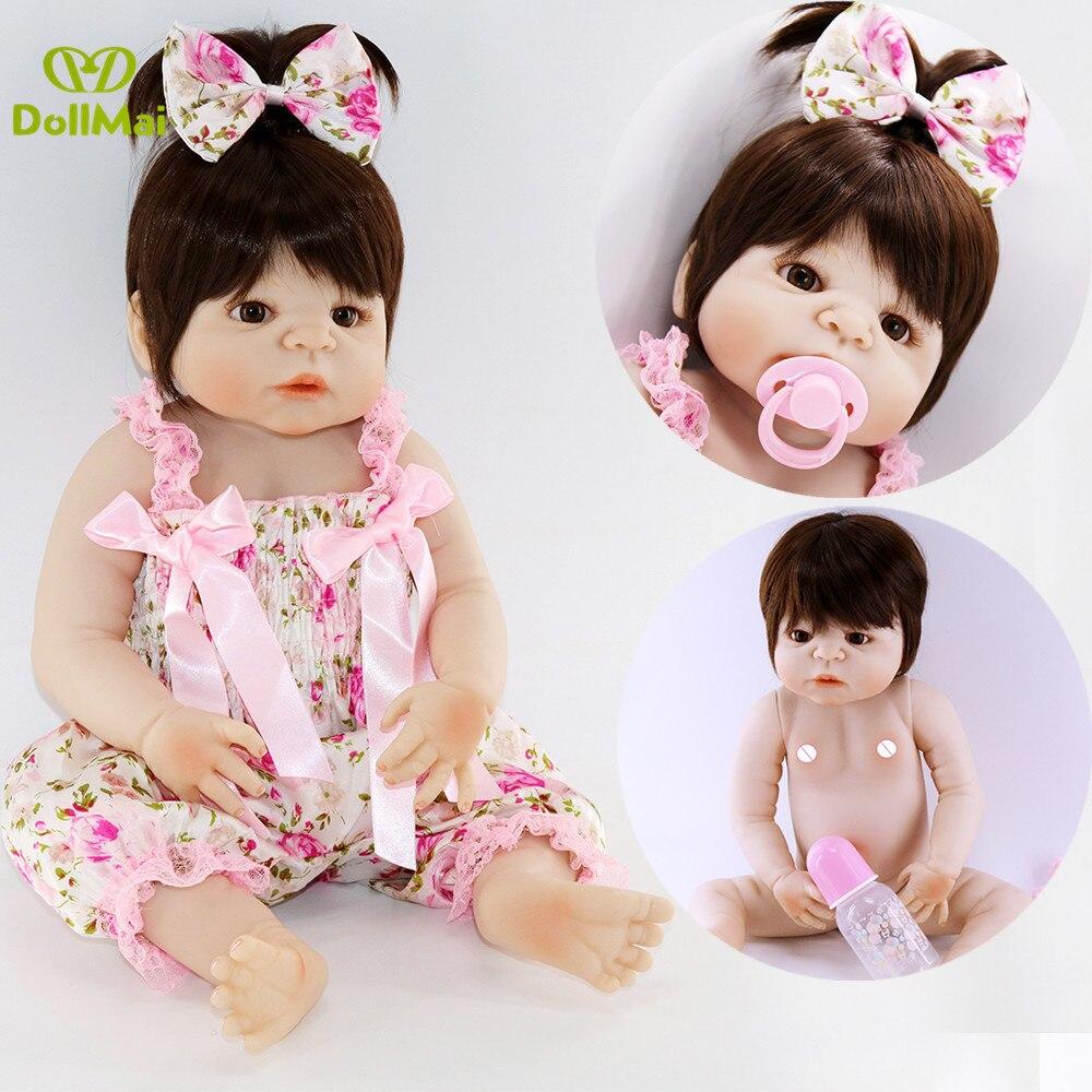 22 bebebebebes renascer vivo bonecas artesanal lifelike bebê reborn boneca meninas de corpo inteiro vinil silicone com chupeta presente da criança