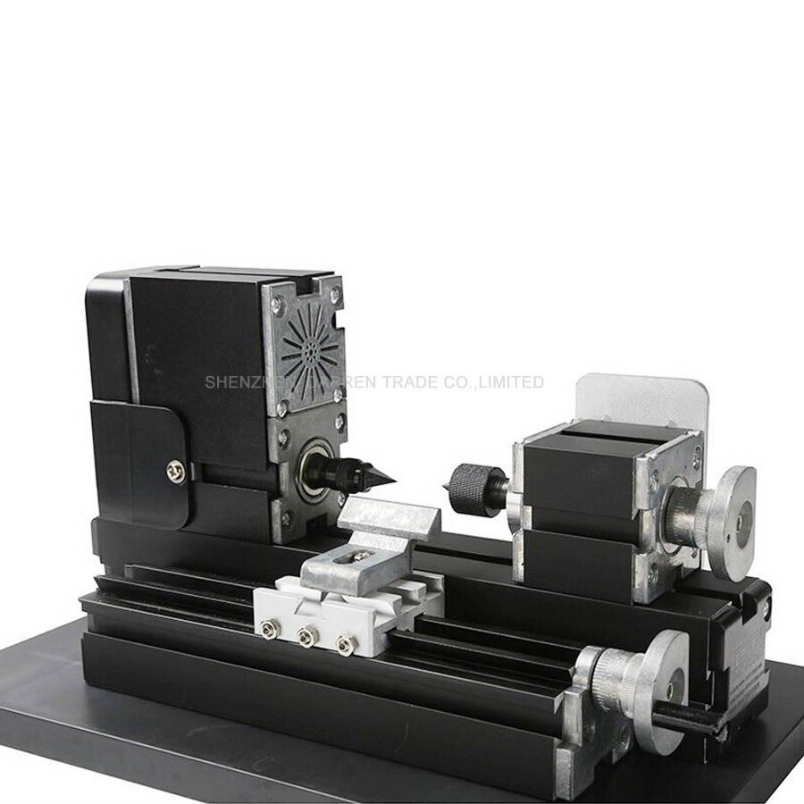 110V / 220V Mini máquina de torno CNC Máquina de torno CNC con placa de torno de metal Área de banco de trabajo 90 * 90 mm 12000r / min