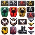 3 Unids/lote El Mayor Número de Diseños 3D PVC Parche Militar Brazalete Backside PVC Tactical Gear Parches
