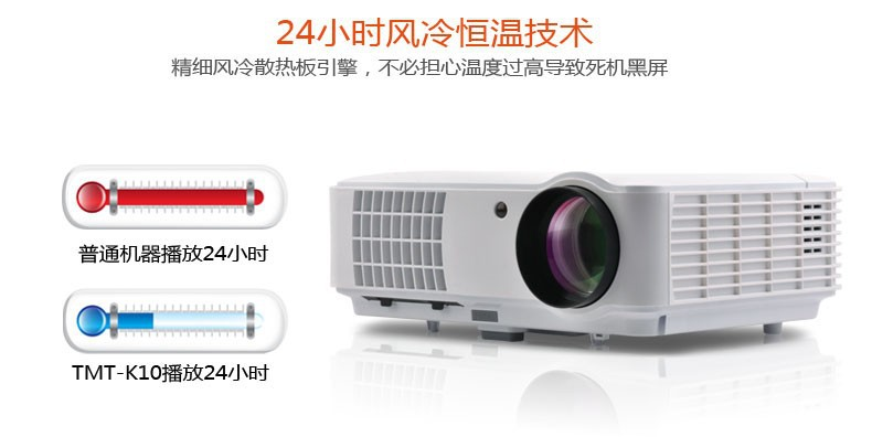 4500 Lumens 7500:1 1280*800 External android system 1080P HD Projector 3D projector home china - original stores store