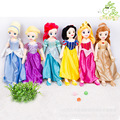 Big 67CM Classic Princess Mermaid Rapunzel Snow White Sleeping Beauty Cinderella Beauty and Beast Plush Dolls For Girls Kids Toy