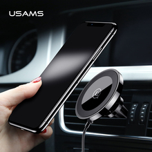 USAMS Car Phone Holder Charger Phone Charger Wireless Charger Universal 360 Rotation Phone Holder for Car Air Vent for Xiaomi