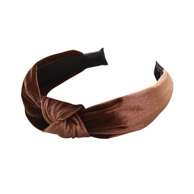 Cute Party Decorative Solid Velvet Hairband Kids Girls Headbands Headwear