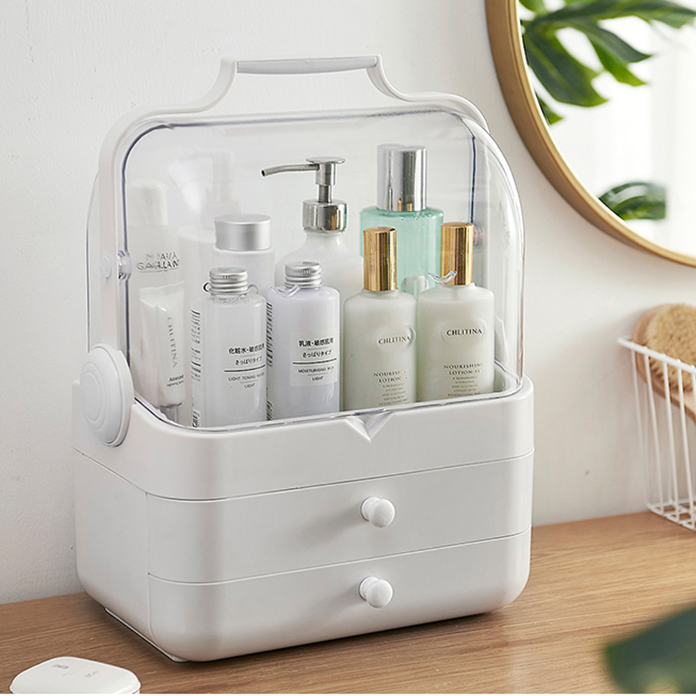 Makeup Organizer Jewelry Storage Makeup Box Cosmetics Organizer Container with Drawer Table Desktop Make Up Organizer Box(China)
