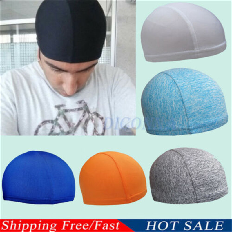 Quick Drying Mens Riders Hat Cycling Skull Cap Bike Motorbike Under Helmet Liner