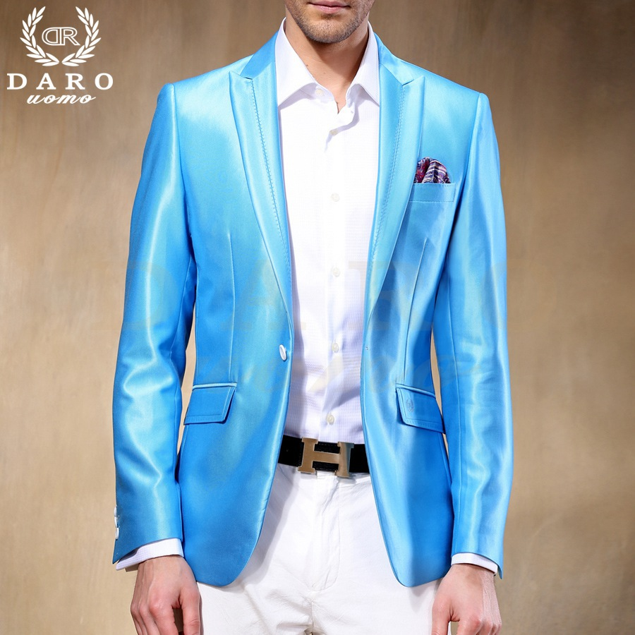 Brand DAROuomo Custom Made Men Suit Sky Blue Wedding Suits Groom ...