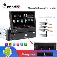 Podofo 1din Android Car Radio Autoradio 1 Din 7'' Touch Screen Car Multimedia Player GPS Navigation Wifi Auto MP5 Bluetooth USB