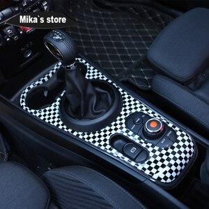 Image 5 - חדש רכב מקורה מוגן ABS סגנון Ray shift מרכז קונסולת pannel עבור מיני קופר F60 countryman רכב סטיילינג קישוט מדבקה