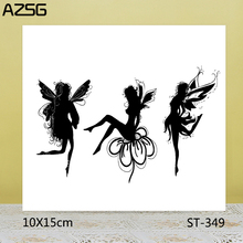 AZSG Different Postures Girl / Fairy Clear Stamps/Seals For DIY Scrapbooking/Card Making/Album Decorative Silicone Stamp Crafts