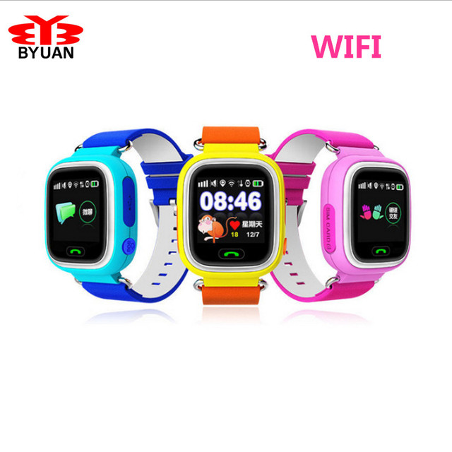 GPS Children Smart Watch Q90 Touch Screen WIFI Positioning SOS Call Location Finder Device Tracker Kid Safe Anti Lost Monitor