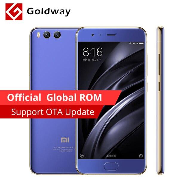 "Original Xiaomi Mi6 Mi 6 Mobile Phone 6GB RAM 64GB ROM Snapdragon 835 Octa Core 5.15"" 12MP Dual Camera Fingerprint"