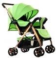 Лучшие продажи детские коляски высокого пейзаж детская тележка складная легкая алюминиевая рама ударопрочный ребенка тележка