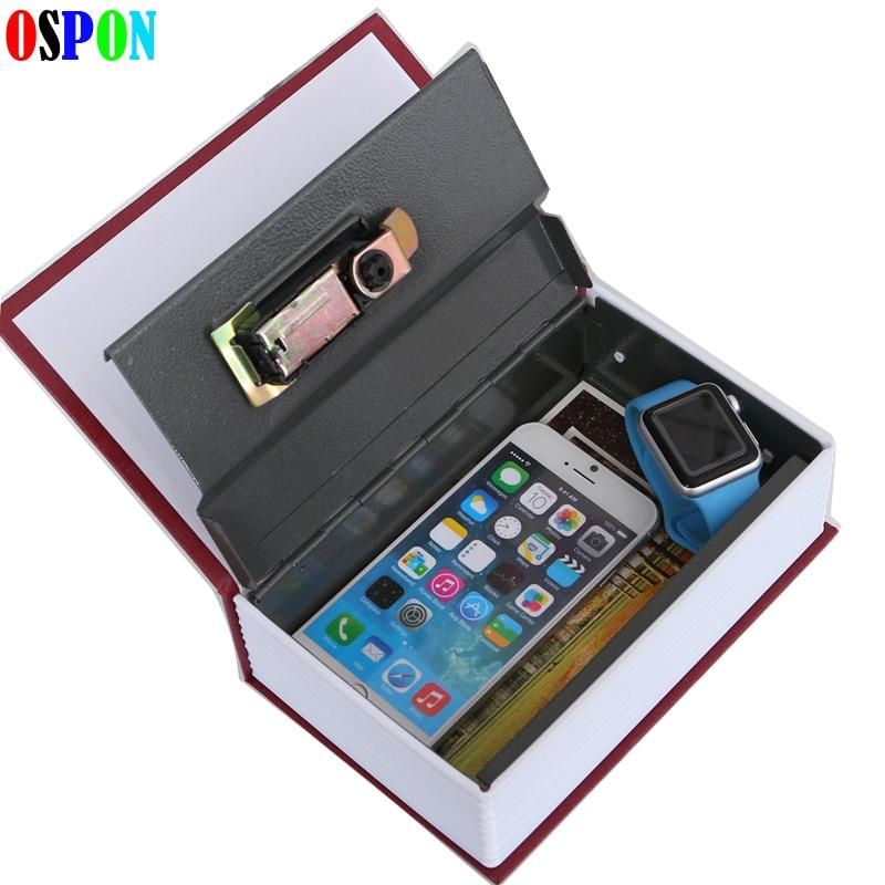 Book Safes Simulation Dictionary Secret Money Box Metal Steel Cash Secure Hidden Safe Piggy Bank Storage Collection Box Size L